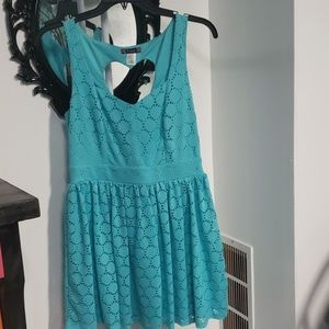 Lace dress with heart detail